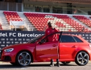 Footballers of FC Barcelona drive Audi