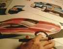 HERO-Nissan-Design-sketches-on-drafting-table-late-1980