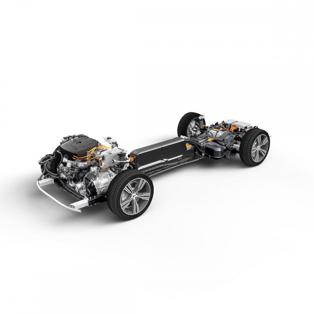 New Volvo S60 T8 Plug-in Hybrid Chassis