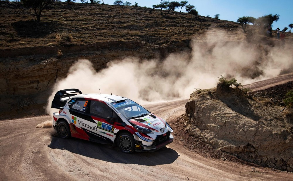 Ott Tanak (EST) Martin Jarveoja (EST) of team Toyota Gazoo Racing WRT is seen racing at special stage 5 during the World Rally Championship Mexico in Leon, Mexico on March 8, 2019 // Jaanus Ree/Red Bull Content Pool // AP-1YNS76U891W11 // Usage for editorial use only // Please go to www.redbullcontentpool.com for further information. //