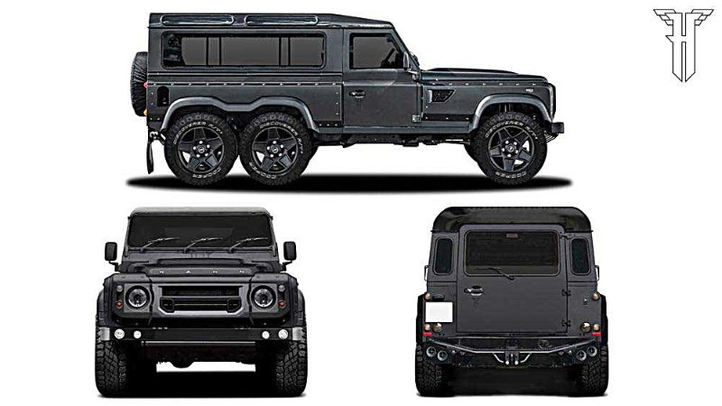 Kahn Design Flying Huntsman 110 WB 6x6 Concept