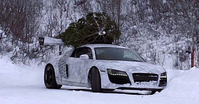 Αεροδυναμικό Audi R8 μεταφέρει έλατο!
