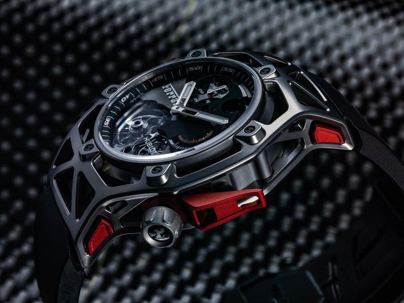 Hublot Techframe Ferrari Tourbillon Chronograph PEEK (5)
