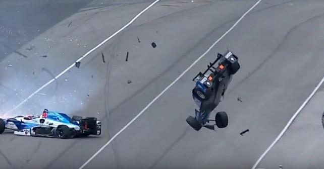 Scott Dixon brutal crash Indy Car Indy500 copy