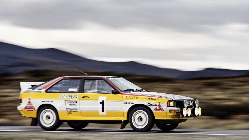 Audi quattro A2, Group B, model year 1983